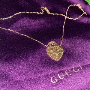 Tiffany love note 18k yellow gold necklace